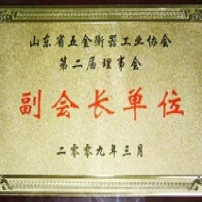 山东省五金衡器工业协会副会长单位